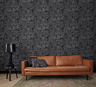 3D wallpaper creates spatial dynamics WALL DESIGN
