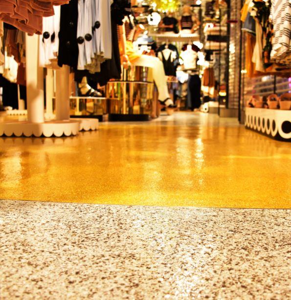 Flowcrete epoxy for Hong Kong fashion outlet Jnl 7 16