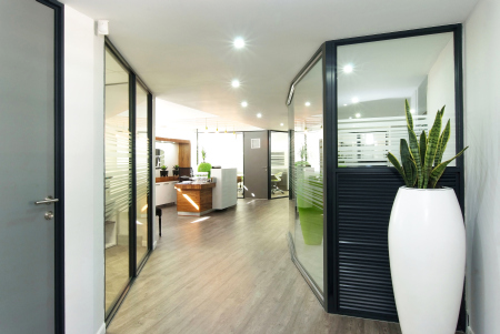 Ceilings and partitions for each unique project Capco
