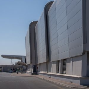 Sloped side cladding for eastgate Kingspan