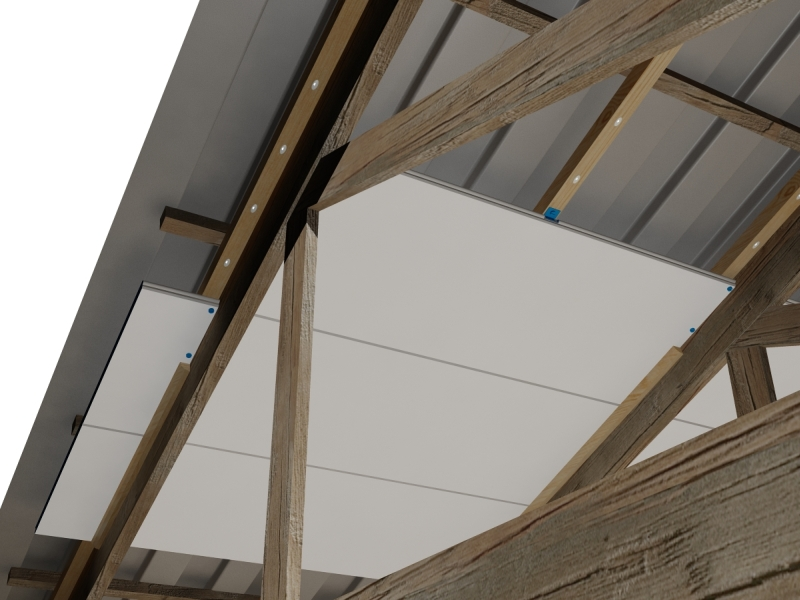 How To Thermally Insulate Roofs With Exposed Rafters Trusses Or