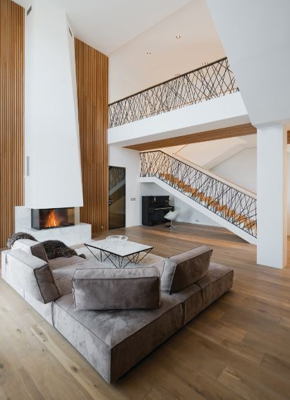 Designed A Beautiful Private House That Is Synthesis Of Natural Materials And Simple Geometric Shapes Situated In Moskva Russia The Cosy