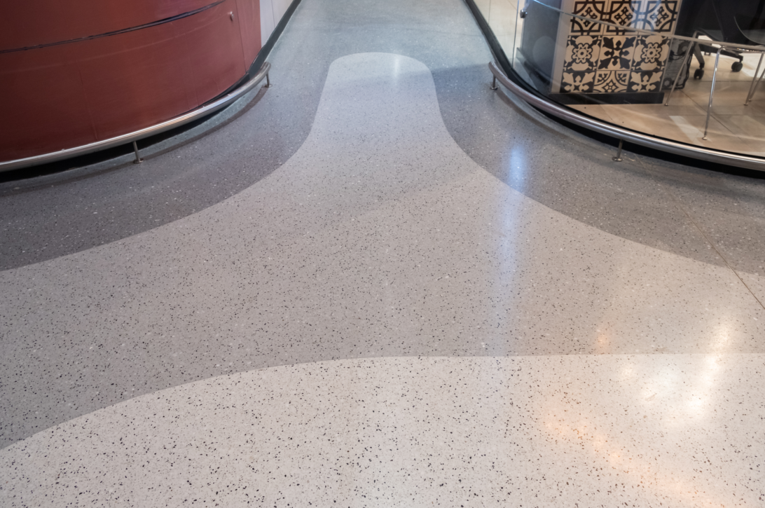 Bespoke Seamless Resin Terrazzo System For The Marc
