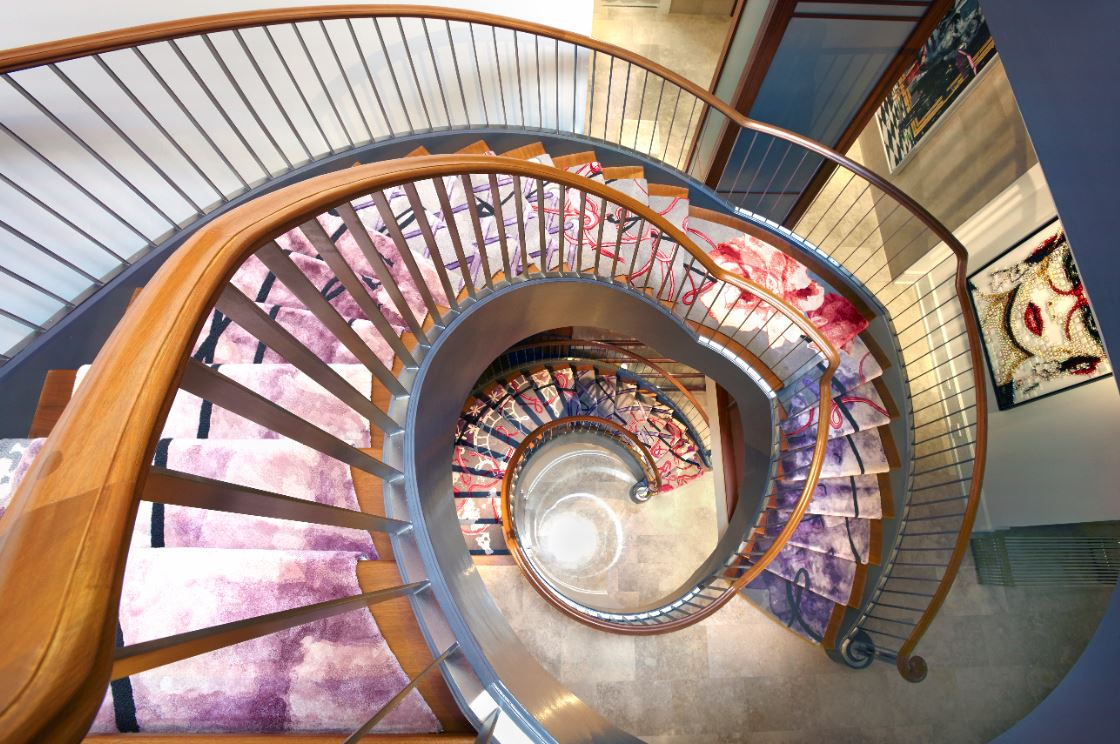 Creating A Work Of Art Out Of A Spiral Staircase