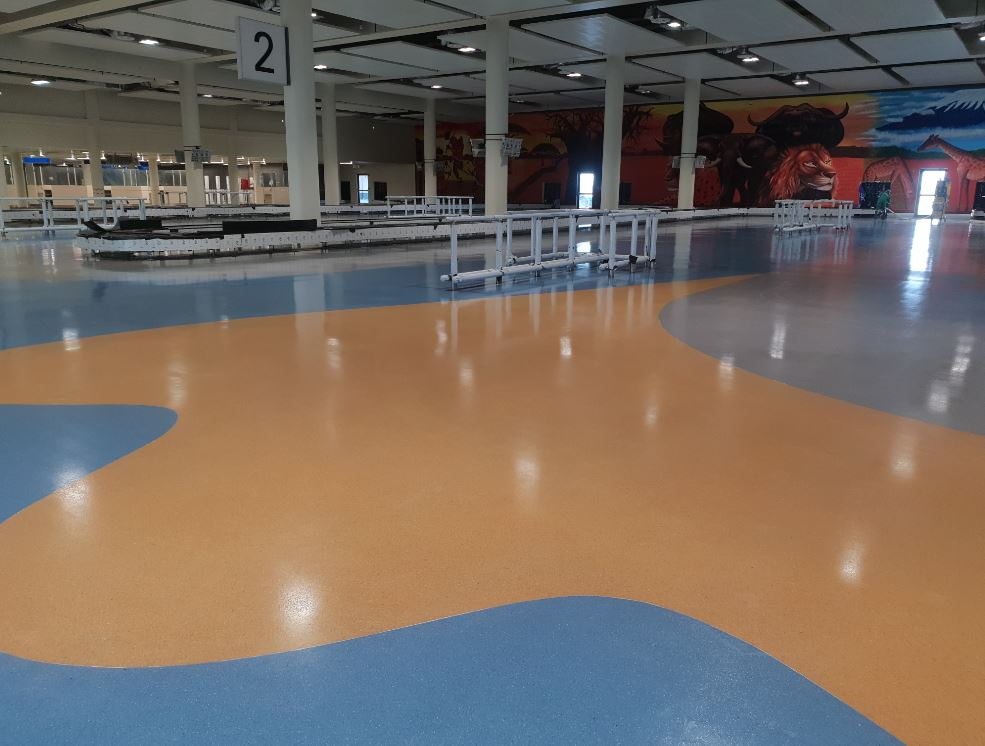 Picturesque Floors At New Airport Terminal In Tanzania